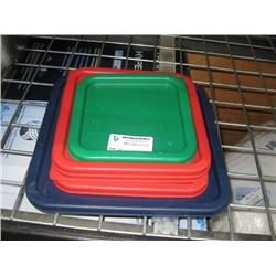 SET OF 5 ASSORTED CAMBRO FOOD LIDS