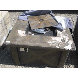 DAMAGED OUTDOOR PROPANE FIRE PIT