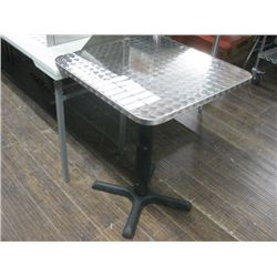 METAL CHECKER PLATE LOOKING 24X24 TABLE WITH BASE