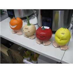 SET OF 4 VEGGIE DISPLAY