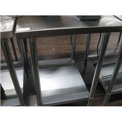 SMALL STAINLESS STEEL TABLE 24 X 30 INCH