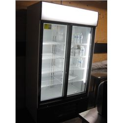 NEW 44 INCH DOUBLE-DOOR UPRIGHT GLASS COOLER FC-LS111ASA