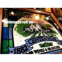 1982 Christian Brothers 100th Anniversary American Pub Mirror 62cm
