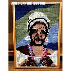 American artist work embroidery 61cm