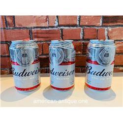 Beer can BUDWEISER 3-piece set