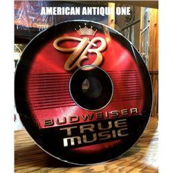 58cm Budweiser True Music Sign