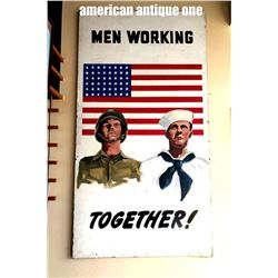 227cm x 122cm World War II soldier recruitment sign