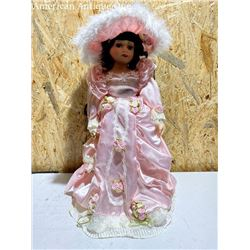 Rose Collection Doll Pink Dress