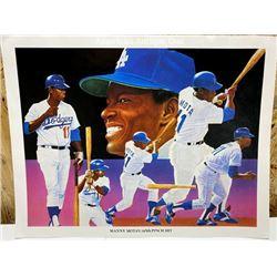 Manny Mota/Los Angeles Dodgers Mini Poster