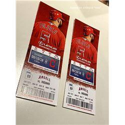 October 9, 2019 Los Angeles Angels VS Cleveland Indians Ticket