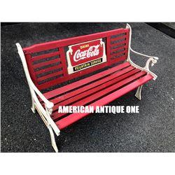 USA Coca-Cola bench