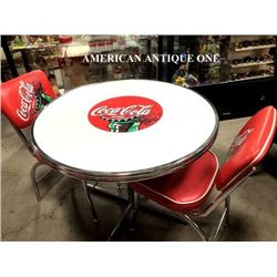 USA Coca-Cola Round table & 2 chairs