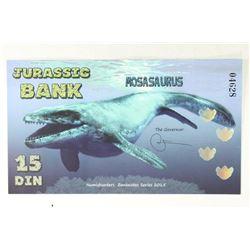 2015 JURASSIC BANK 15 DIN MOSASAURUS COLORIZED