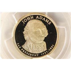 2007-S JOHN ADAMS PRESIDENTIAL DOLLAR PCGS PR69