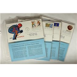 8 ASSORTED 1ST DAY ISSUE ENVELOPES WITH STAMPS