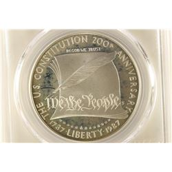1987-S US CONSTITUTION SILVER DOLLAR PCGS PR67
