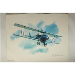 NICE FRAMEABLE 8 1/2'' X 11'' SWALLOW MAILPLANE