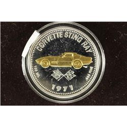 1971 CORVETTE STINGRAY PROOF TOKEN 100 MIL