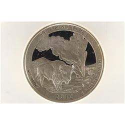 2010-S SILVER YELLOWSTONE NATIONAL PARK QUARTER