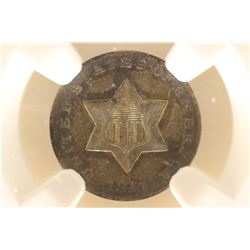 1851 THREE CENT PIECE (SILVER) NGC VF DETAILS