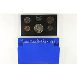 1969 US PROOF SET (WITH BOX) WITH 40% SILVER JFK