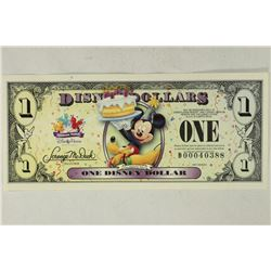 2009 DISNEY DOLLAR (MICKEY) CRISP UNC + ENVELOPE