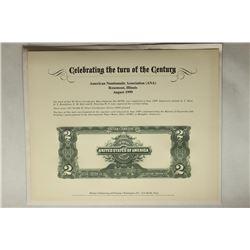 1999 AMERICAN NUMISMATIC ASSOC. SOUVENIR CARD