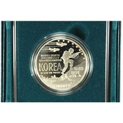 1991 KOREAN WAR MEMORIAL PROOF SILVER DOLLAR