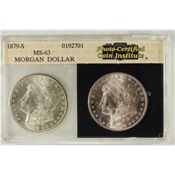 1879-S MORGAN SILVER DOLLAR PHOTO CERTIFIED