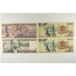 MEXICO 1982-100 PESOS, 1982-500 PESOS, 1983-2000