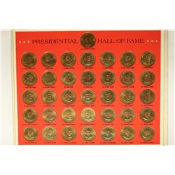 FRANKLIN MINT PRESIDENTIAL TOKEN SET INCLUDES