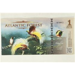 2016 ATLANTIC FOREST $1 BIRD OF PARADISE COLORIZED