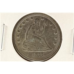 1877 SEATED LIBERTY QUARTER UNC