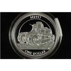 2017 TUVALU PROOF DOLLAR M1917 TANK