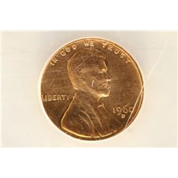 1960 D/D LARGE DATE RPM-23 LINCOLN CENT ANACS MS65