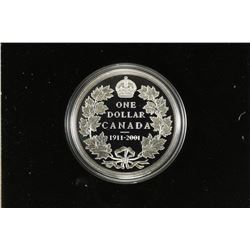 1911-2001 CANADA (1911 PROOF SILVER DOLLAR COIN)
