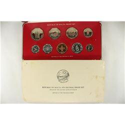REPUBLIC OF MALTA 1976 DECIMAL PROOF SET