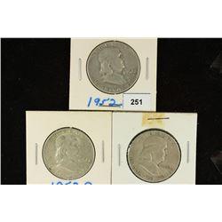 1952-P/D/S FRANKLIN HALF DOLLARS