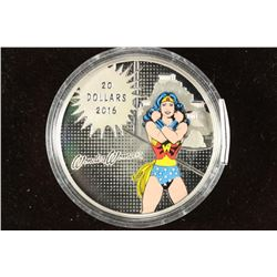 2016 CANADA COLORIZED WONDER WOMAN PROOF