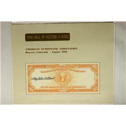 1996 AMERICAN NUMISMATIC ASSOC. SOUVENIR CARD