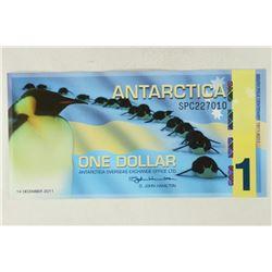 2011 ANTARCTICA $1 SOUTH POLE CENTENARY CRISP UNC
