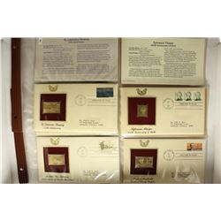8 ASSORTED 1ST DAY ISSUE ENVELOPES WITH GOLD