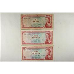 3 EAST CARIBBEAN $1'S