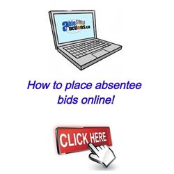 How to place absentee bids online