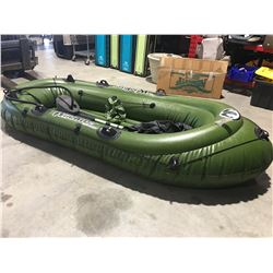 WILDRIVER INFLATABLE DINGHY C/W OARS, PUMP, PATCHES & CARRY BAG