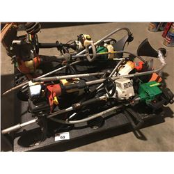 PALLET LOT OF ASSTD WEED EATERS (FOR PARTS OR REPAIR ONLY)