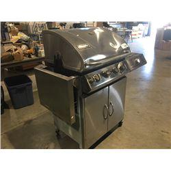 CHARMGLOW 4-BURNER BBQ WITH ROTISSERIE MOTOR & SIDE BURNER