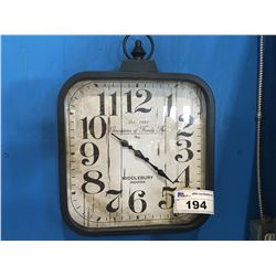 """MIDDLEBURY INDIANA """"GENERATIONS OF FAMILY FUN"""" WALL CLOCK (APPROX 14.5"""" X 15"""")"""