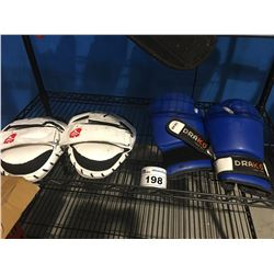 DRAKO 14OZ BOXING GLOVES & RIGN FULL CONTACT SPARRING GLOVES