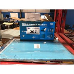 SMD REWORK STATION (HOT AIR GUN/NOZZLES, SOLDER IRON) & ANTI STATIC PAD-FOR WORKING ON  ITEMS LIKE